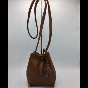 Shaffer Los Angeles Leather Mini Bucket Bag